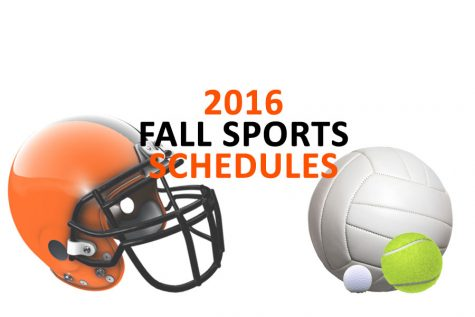 Varsity Fall Sports schedules