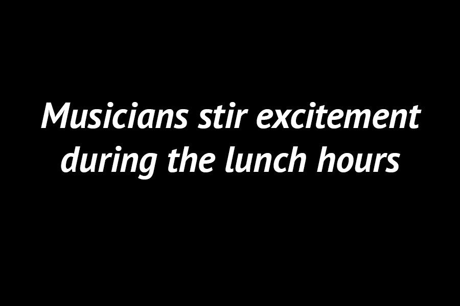 Photo Gallery: Musicians stir excitement during the lunch hours