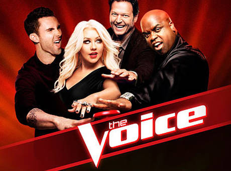 The Voice judges Adam Levine, Christina Aguilera, Blake Shelton and Cee Lo Green (left to right).