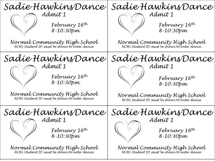 Ticket stubs for the Sadie Hawkins Dance.