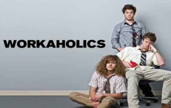 The cast of Workaholics, Adam Devine , Anders Holm and Blake Anderson.