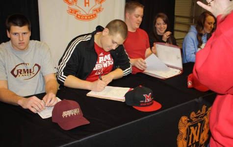 NCHS students sign their National Letters of Intent