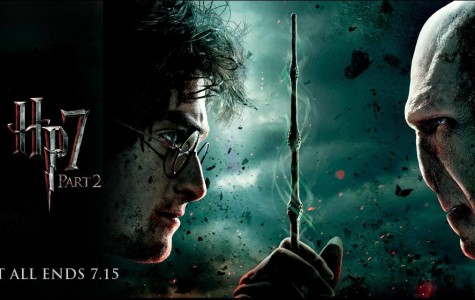 A poster for the premiere of Harry Potter and the Deathly Hallows.