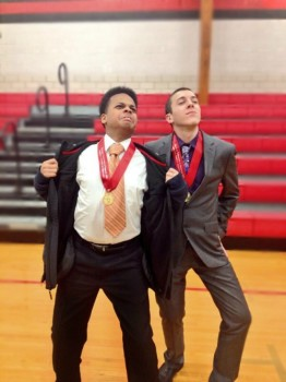 Campbell and Moravec displaying their medals from the Heyworth Speech Tournament on January 18th. Campbell took second place and Moravec took fourth, beating other competitors from across the state.