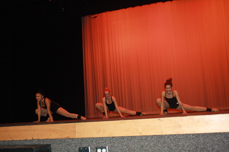 Jacee Henry, Kayla Hunyh, and Julia Read performed an originally choreographed routine to