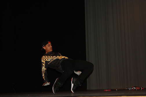 Jordan Stipp wowed the audience with an impressive dance mix. He was definitely a crowd favorite.