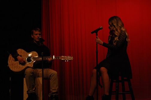 Brandon Brown and Jenna Martel performed a refreshing stripped down cover of