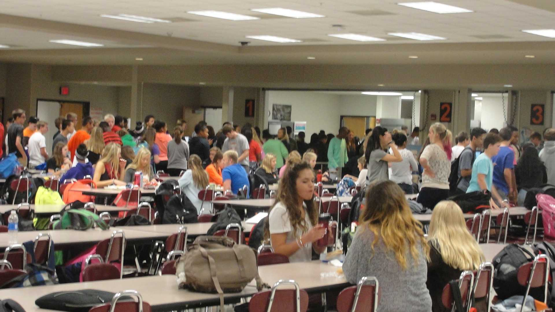 Students line up for lunch. (Sept. 21-25)