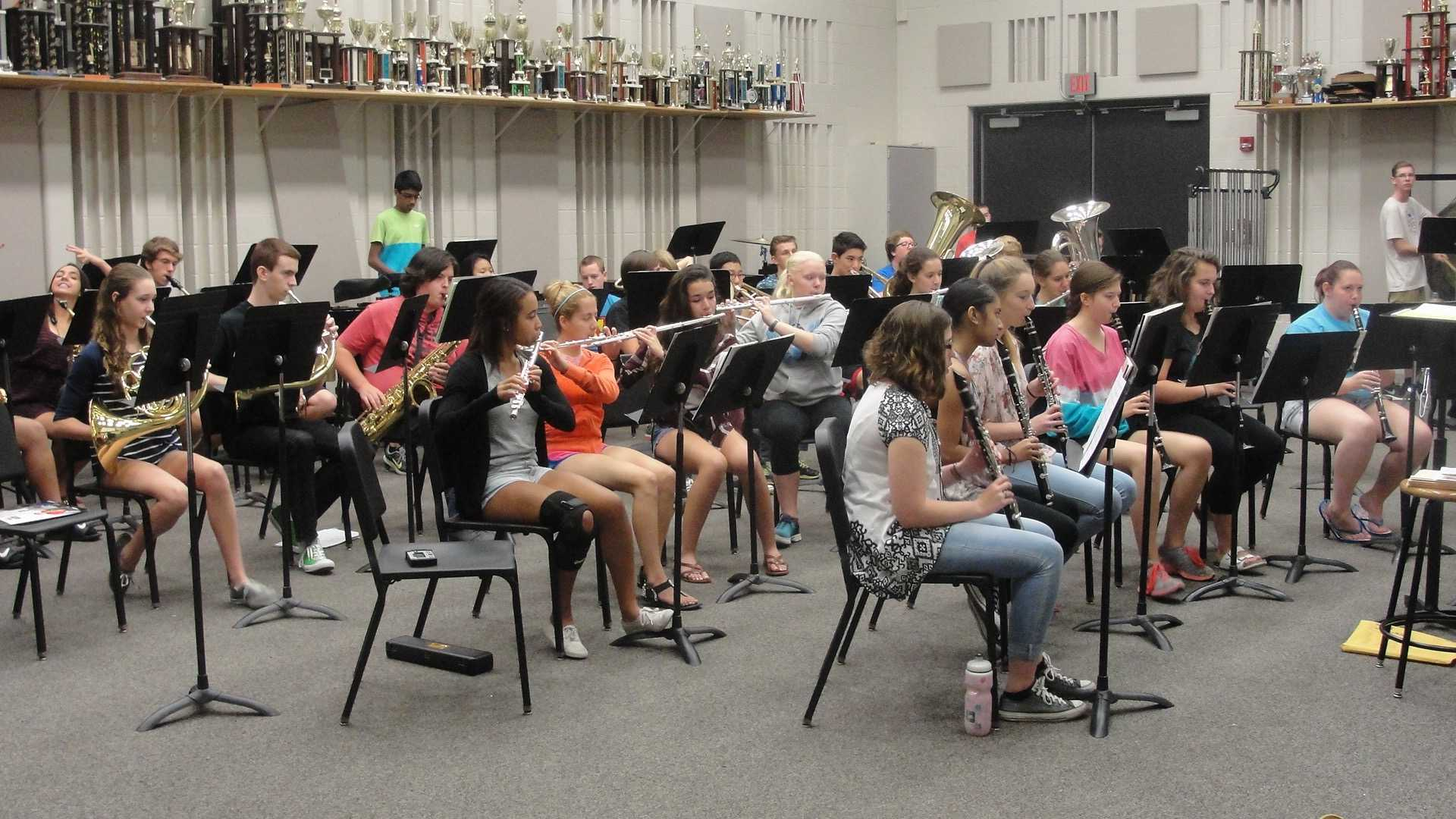 The Symphonic Winds band plays their hearts out. (Sept. 21-25)