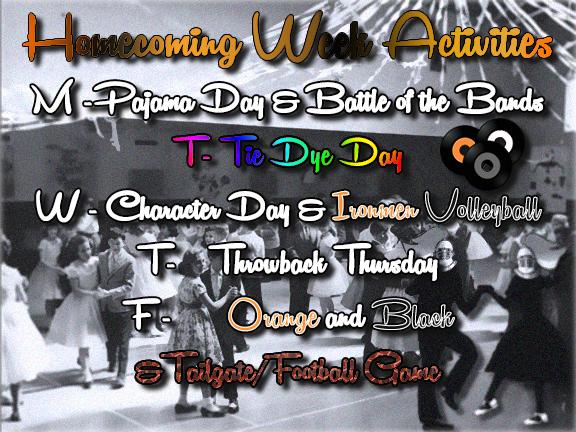 Homecoming week activities