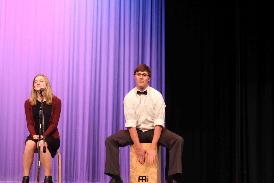 Junior Ryan Watkins played percussion in Modern Crew