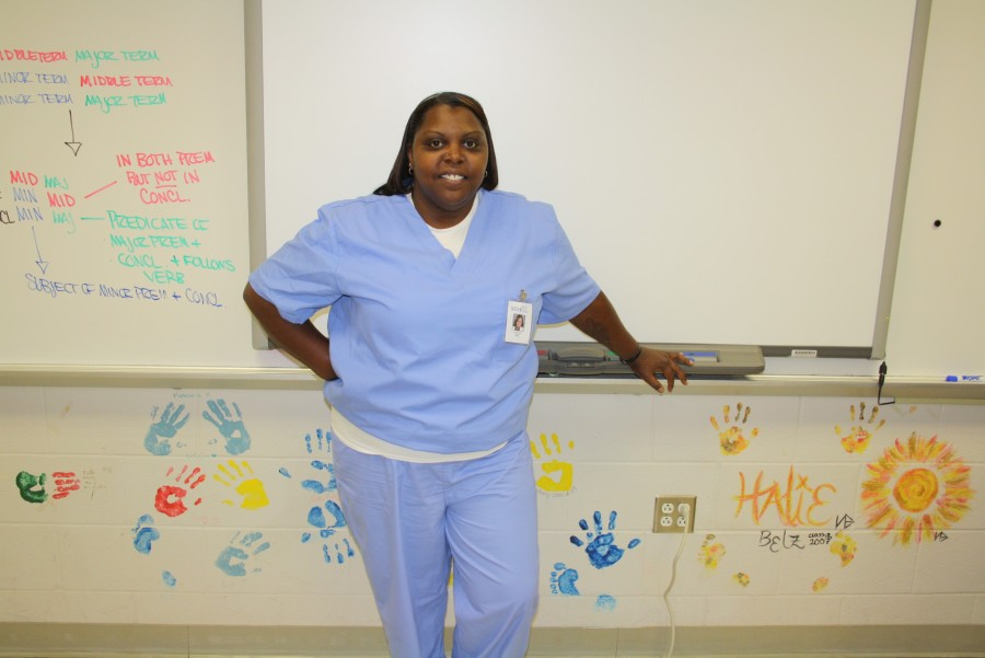 Ms. Baker as a nurse from Grey's Anatomy