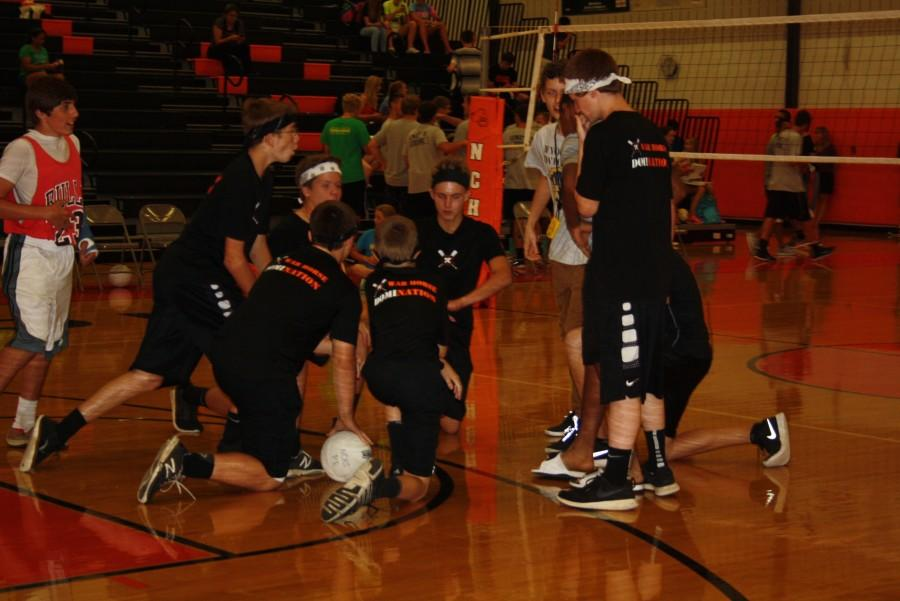 SWAT Team (9) during a time out.