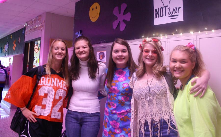 Seniors Brooke Hoeferle, Morgan Brant, Mary Kate Patton, Morgan Reeps, and Olivia Wills