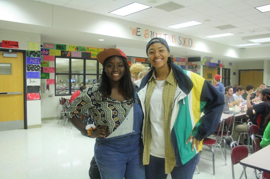 Seniors Ayanna Johnson and Brianna Maebane Blackwell wore 90s apparel