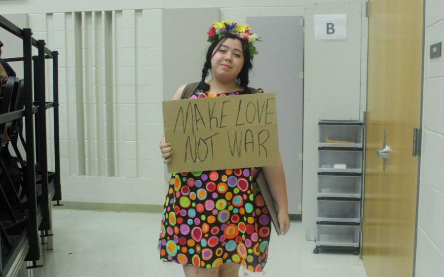 Junior Sophia Rose Brown dressed as a Hippie