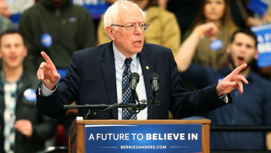 Bernie Sanders, candidate for the Democratic nomination for President, speaks on March 4, 2016 morning inside the Vadalabene Center on the campus of SIUE in Edwardsville, Ill. (Derik Holtmann/Belleville News-Democrat/TNS)