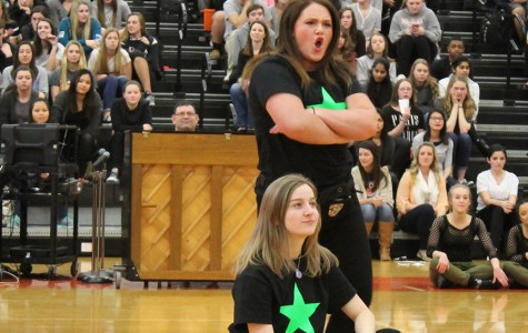 Kate Meulemans and Maddie McDonnell lip sync