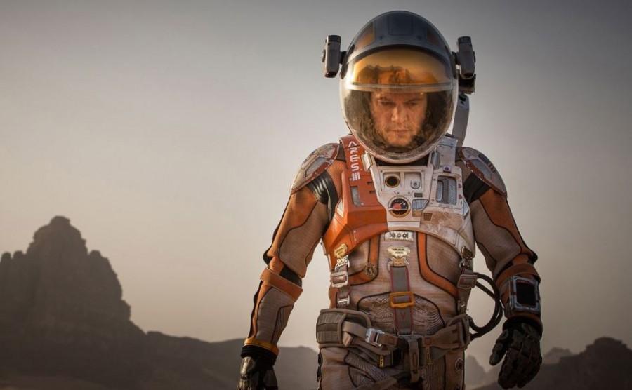 Matt+Damon+in+%22The+Martian.%22+%28Photo+courtesy+20th+Century+Fox%2FTNS%29%0A