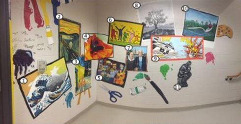 Art in Freshman Hallway: explained