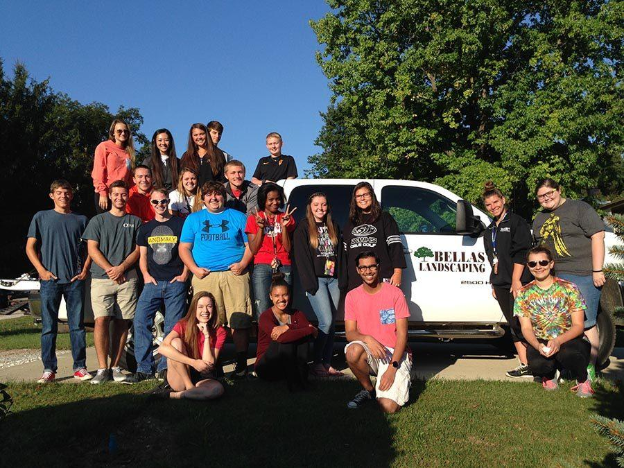 Students worked with Bellas Landscaping, a landscaping business created by Unit 5 alumni, Adam and Justin Bellas.