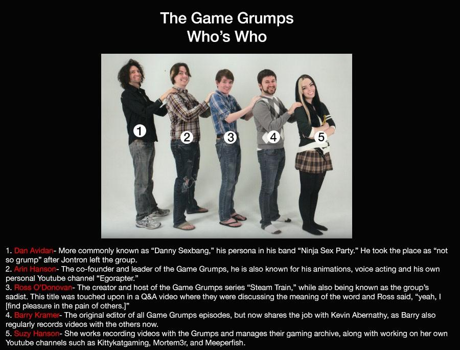 The Game Grumps: Who's who?