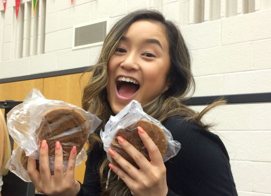 Step 6: Empty you lunch account. Kayla Huynh, senior, spent all the money left in her lunch account on cookies which she handed out to her friends.