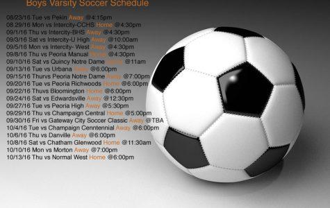 Varsity Boys Soccer schedule
