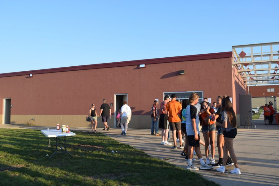 Student Council sold hot dogs, chips, and a drink for $3 as one of their fundraisers.