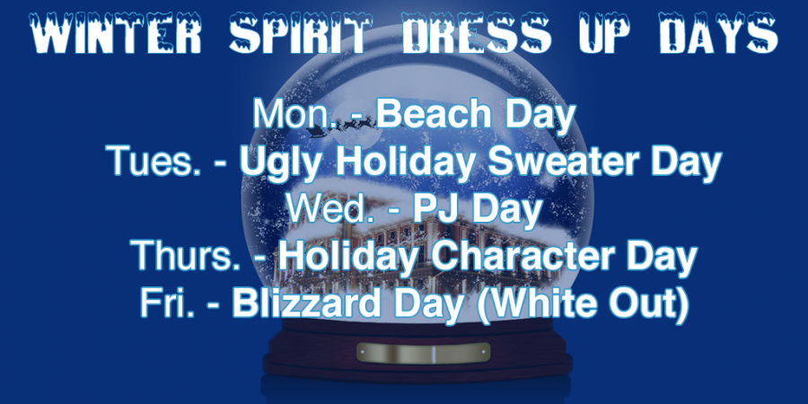 Winter Spirit dress up days