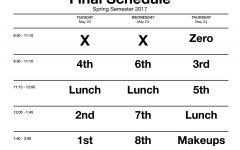 Spring Finals Schedule