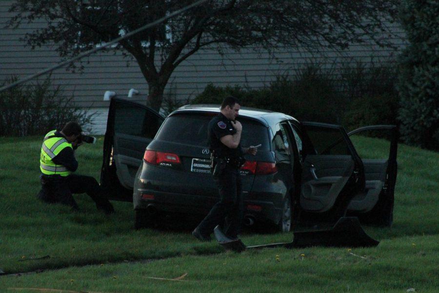 Authorities investigate the scene.