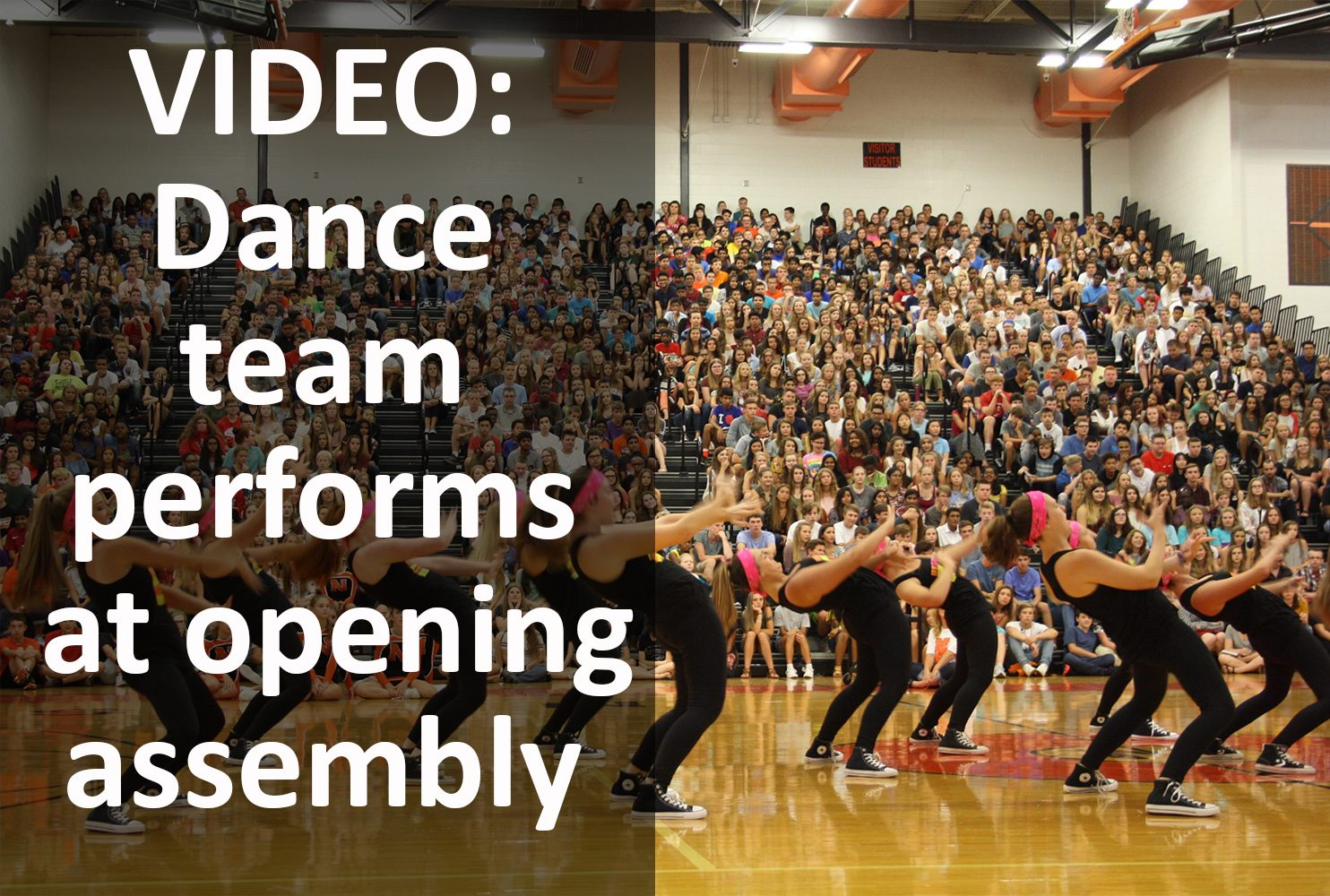 Dance team performs during opening day assembly