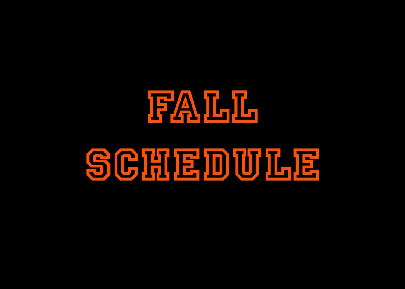 Fall event schedule