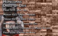 Homecoming week dress-up days
