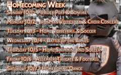 Homecoming week event schedule