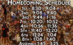Homecoming 2017 bell schedule