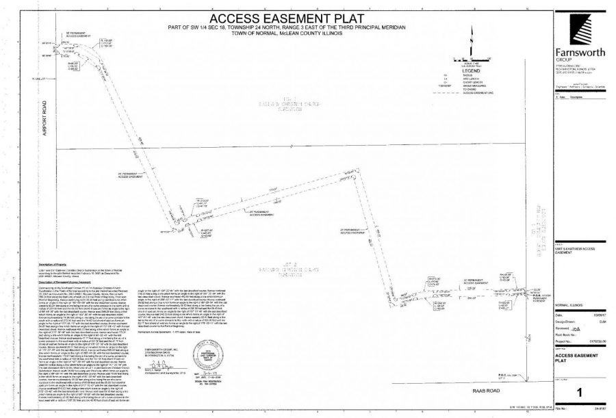 Map of the driveway from the school board records.