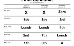 Fall finals schedule