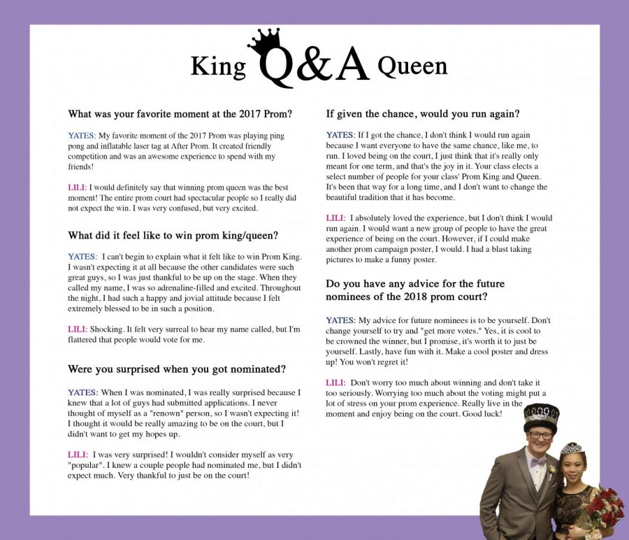 Q&A with past Prom King and Queen