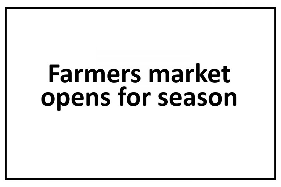 Farmers market open for season