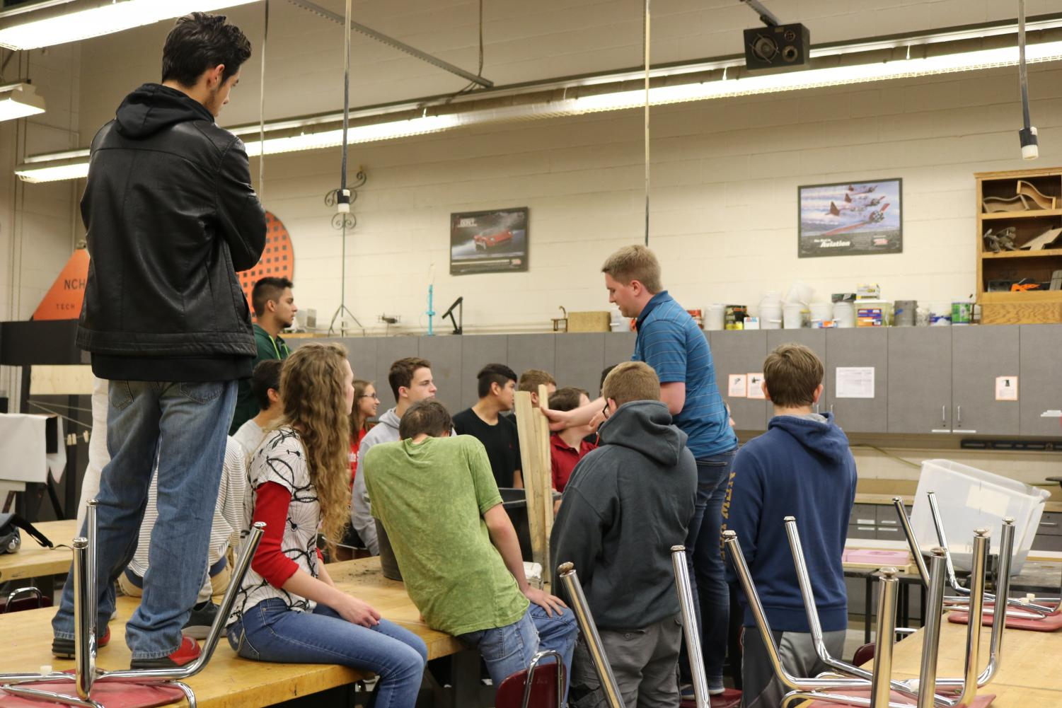 Mr. Matt Emberson's Material Applications and Processes class learns how to do a Concrete Lab.