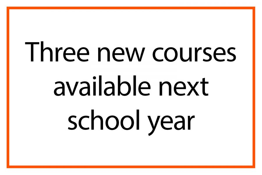 Three new courses available next school year