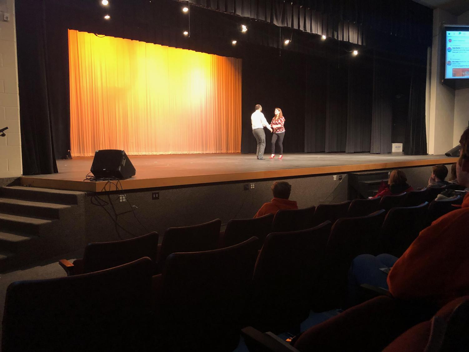 Pictured here are exhibition dancers, Mr. and Mrs. Lawerence.