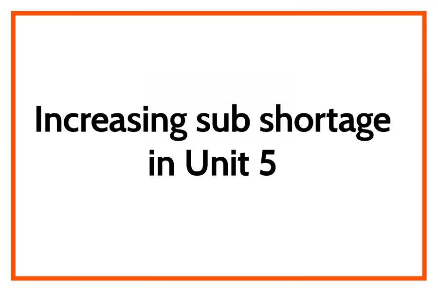Increasing sub shortage in Unit 5