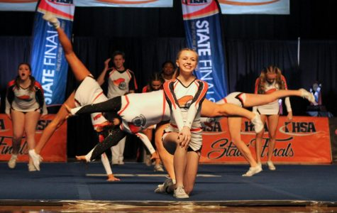 Video: Co-ed cheer competes in State