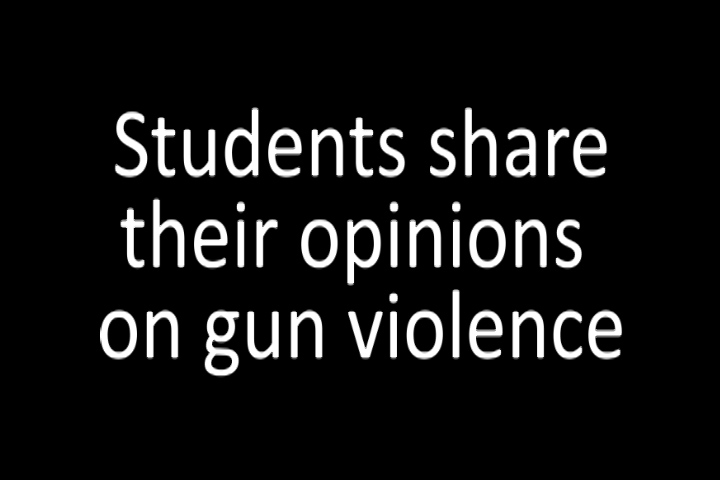 Video: Students share their thoughts on gun violence