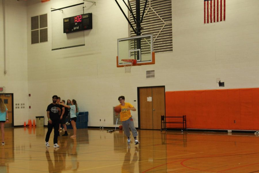 Students got very competitive playing Knockout in the gym.