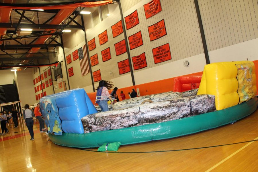 Students also got to play human Foosball.
