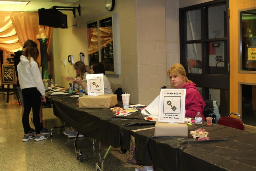 The parent volunteers stayed awake just as long as the students, helping ensure that After-Prom ran smoothly.